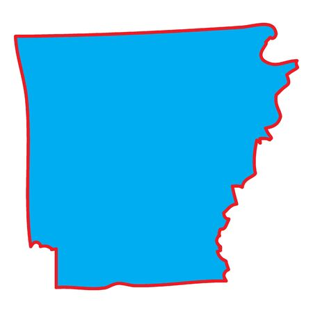 arkansas: A Map of the the state  Arkansas