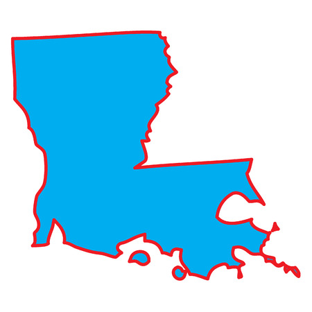 A Map of the the state  Louisiana Stock Photo