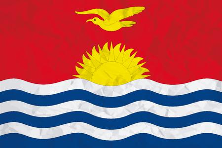 kiribati: A Flag Illustration of the country of Kiribati