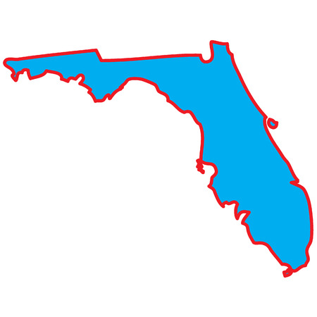 A Map of the the state  Florida