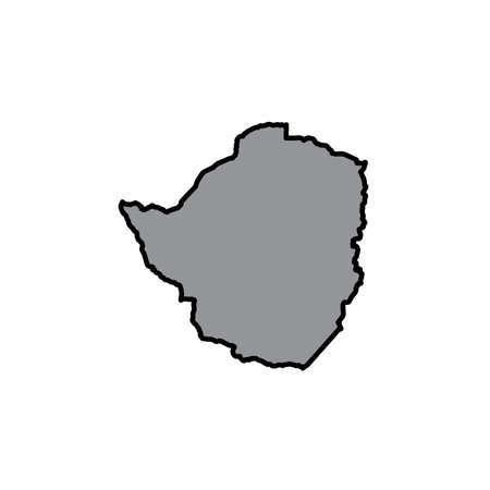 zimbabue: A Map of the country of Zimbabwe