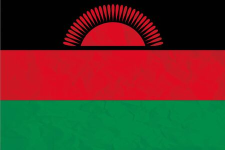 A Flag Illustration of the country of Malawi