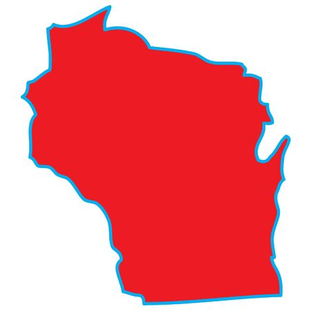 wisconsin: A Map of the the state  Wisconsin Stock Photo