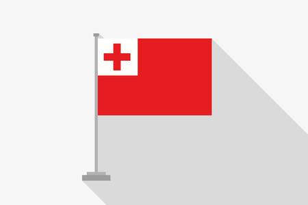 tonga: A Flag Illustration of the country of Tonga