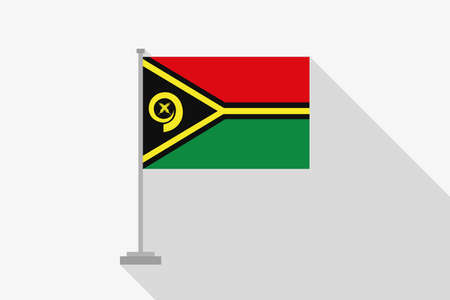 vanuatu: A Flag Illustration of the country of Vanuatu Stock Photo