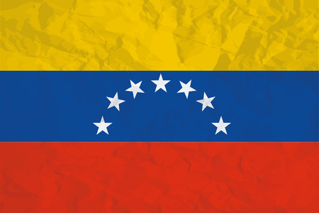 bandera de venezuela: Una ilustración de la bandera del país de Venezuela Foto de archivo