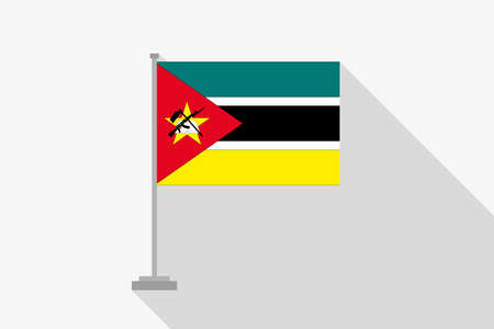 mozambique: A Flag Illustration of the country of Mozambique