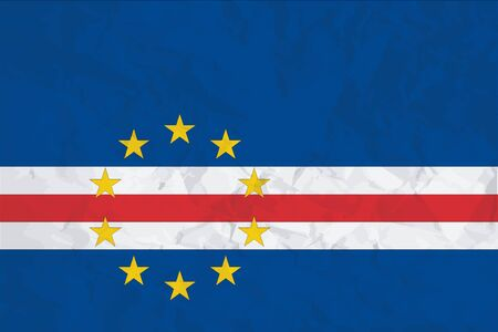 A Flag Illustration of the country of Cape Verde