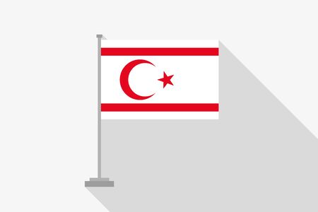 northern: A Flag Illustration of the country of Northern Cyprus Stock Photo