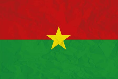 A Flag Illustration of the country of Burkina Faso