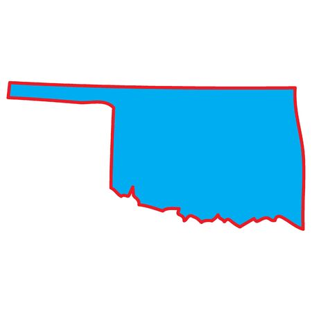 oklahoma: A Map of the the state  Oklahoma
