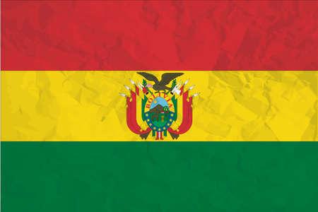 Una ilustración de la bandera del país de Bolivia