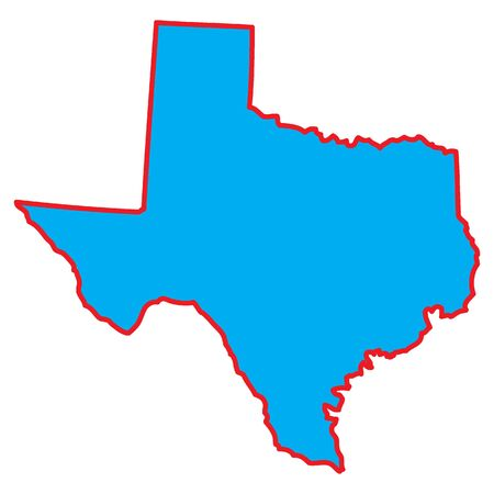 A Map of the the state  Texas Stock Photo