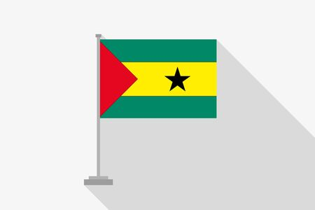 principe: A Flag Illustration of the country of Sao Tome E Principe