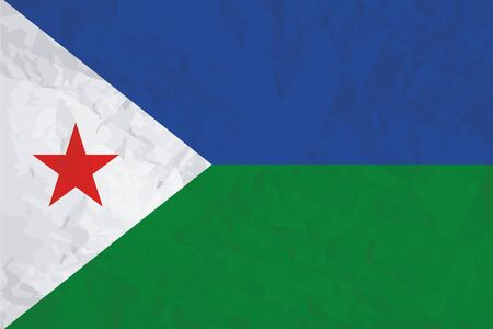 A Flag Illustration of the country of Djibouti