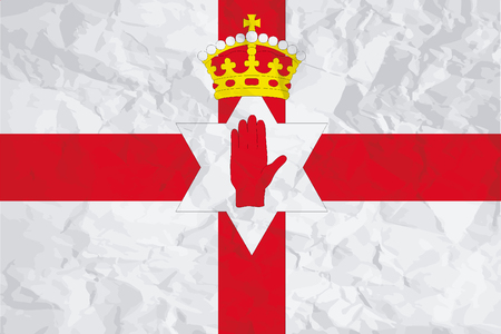 northern: A Flag Illustration of the country of Northern Ireland