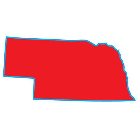 nebraska: A Map of the the state  Nebraska