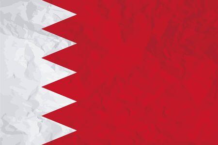 bahrain: A Flag Illustration of the country of Bahrain