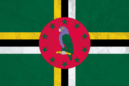 A Flag Illustration of the country of Dominica