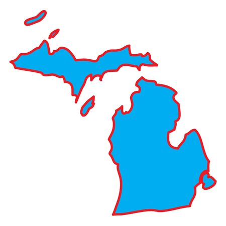 A Map of the the state  Michigan Stock Photo