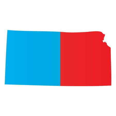 KANSAS: A Map of the the state  Kansas