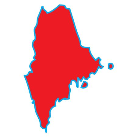 A Map of the the state  Maine Stock Photo