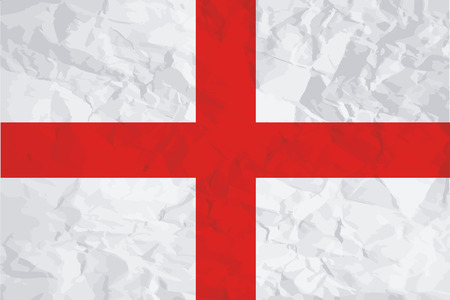 england politics: A Flag Illustration of the country of England Stock Photo