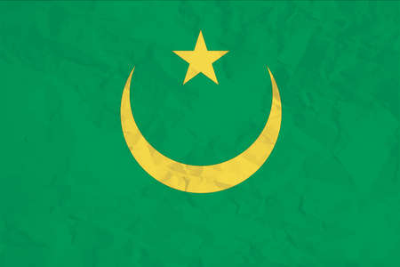 A Flag Illustration of the country of Mauritania