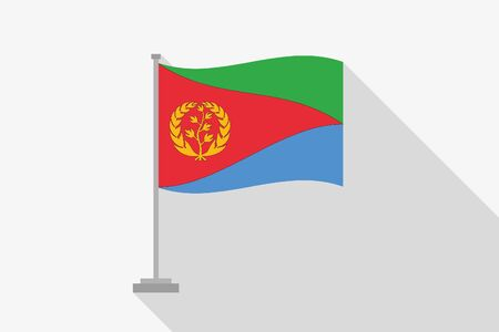 eritrea: A Flag Illustration of the country of Eritrea