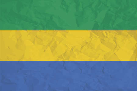 gabon: A Flag Illustration of the country of Gabon