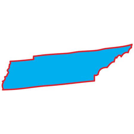 tennesse: Un mapa del estado de Tennessee Foto de archivo