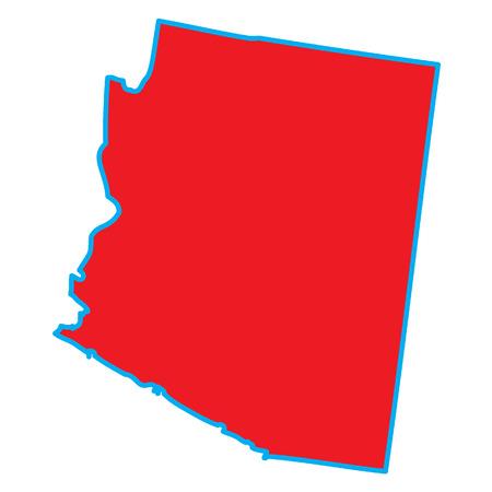 state of arizona: A Map of the the state  Arizona