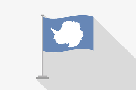 antartica: A Flag Illustration of the country of Antartica