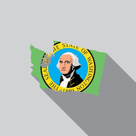 endorsing: A United States Illustration of Washington Stock Photo