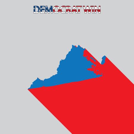 endorsing: The United States Election Illustration for Virginia Stock Photo