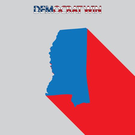 endorse: The United States Election Illustration for Mississippi Stock Photo