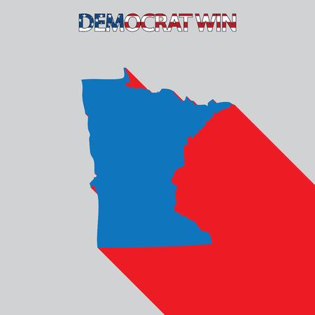 endorsing: The United States Election Illustration for Minnesota Stock Photo