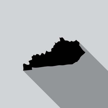 kentucky: A United States Illustration of Kentucky Stock Photo