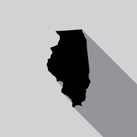 endorsing: A United States Illustration of Illinois Stock Photo