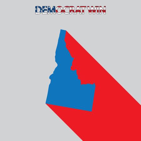 idaho: The United States Election Illustration for Idaho Stock Photo