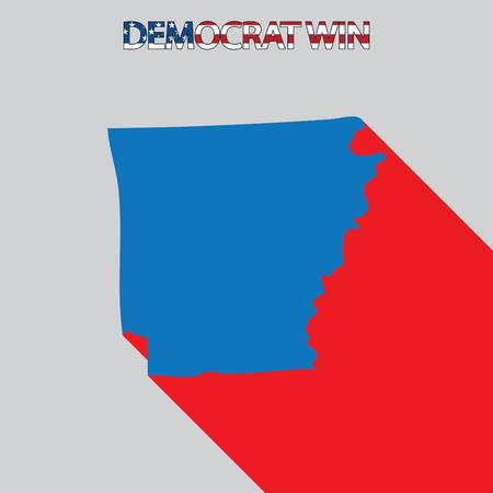arkansas: The United States Election Illustration for Arkansas Stock Photo