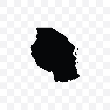 A Country Shape Illustration of Tanzania