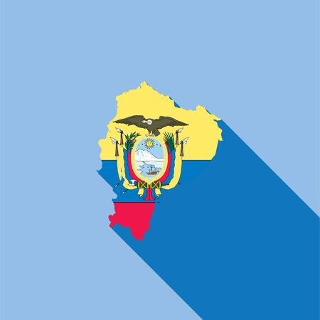 physical geography: Illustrated Country Shape with the Flag inside of Ecuador