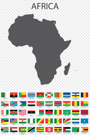 An Illustrated Country Flag of Africa Stock Photo