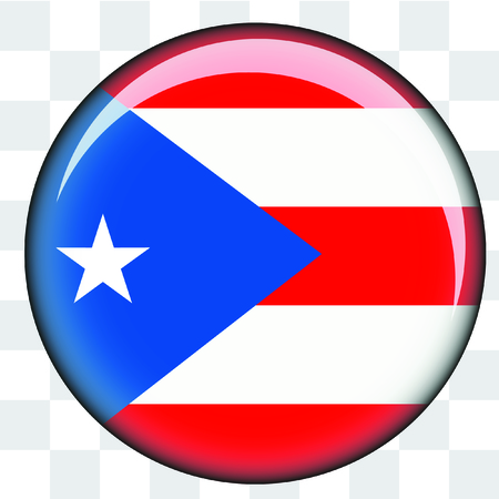 An Illustrated Country Flag of  PuertoRico