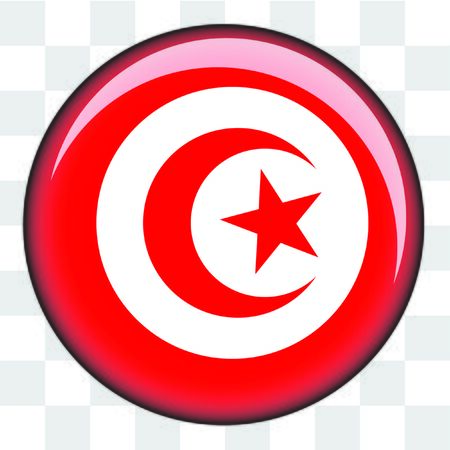 An Illustrated Country Flag of  Tunisia Stock Photo