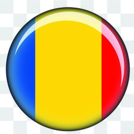 chad: An Illustrated Country Flag of  Chad Stock Photo