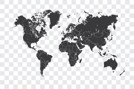 Illustrated World Map with the selected Country Shape of Haiti Stock Photo