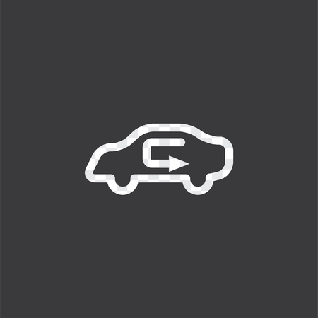 An Illustrated Icon Isolated On A Background Circulate Air Stock