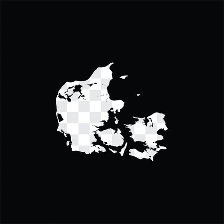 A Country Shape Illustration of Denmark